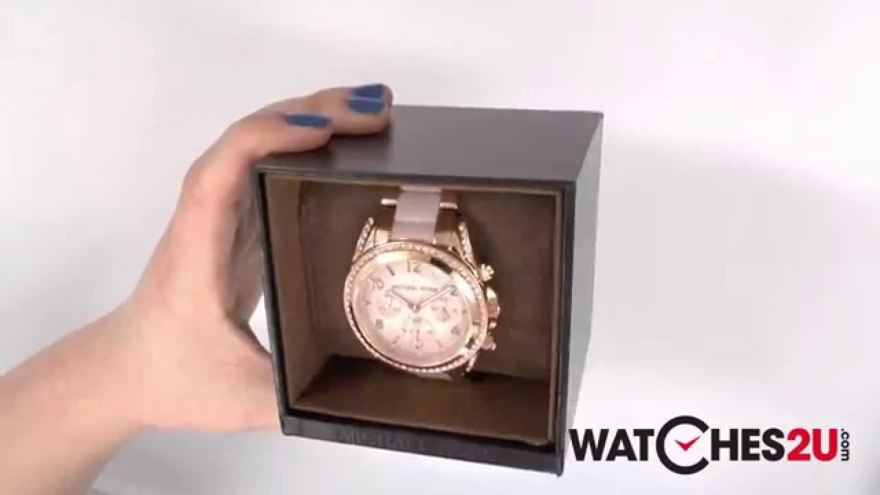 4759c46c3e36 MK5943 Michael Kors Ladies Blair Rose Gold Plated Chronograph Watch -  YouTube