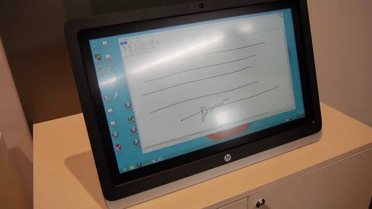 HP Elitedisplay S230TM Hands On - YouTube