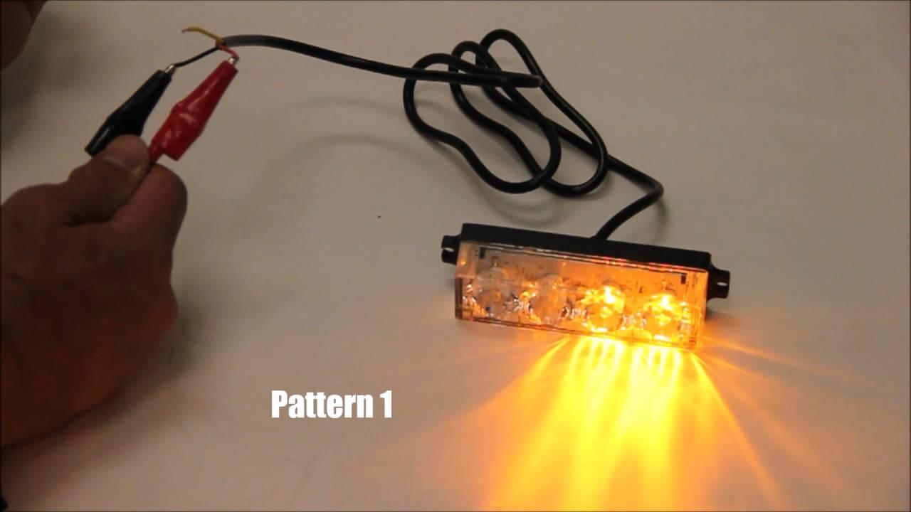 Xprite 4 LED Grill Dash Deck Side Marker Emergency Flash