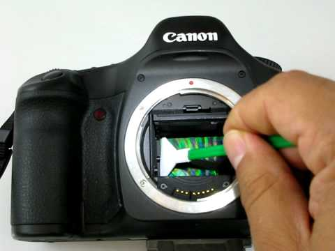 Canon 5D sensor cleaning Vswab MXD-100 from Visibledust