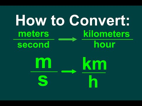 Converting M S To Km H Easy
