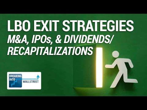 LBO Exit Strategies: M&A, IPOs, and Dividends / Recapitalizations