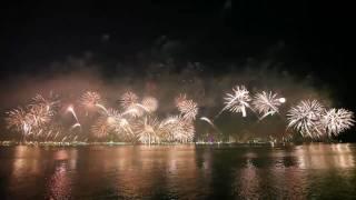 عرض رائع للألعاب النارية يجسد معاني الحب لقطر 2010م