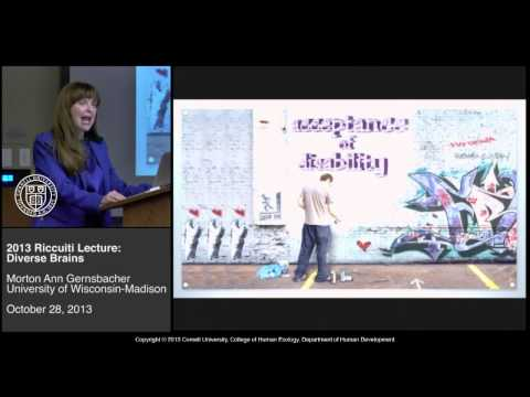 Diverse brains: Difference is not always a deficit, urges Morton Ann Gernsbacher