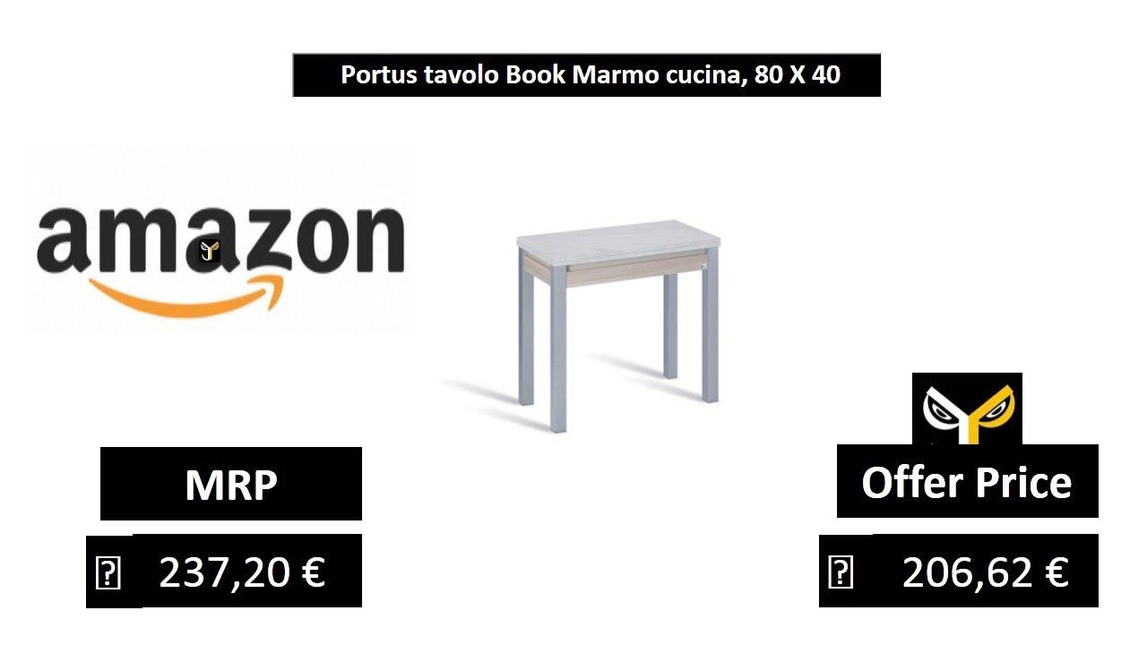Portus tavolo Book Marmo cucina, 80 X 40