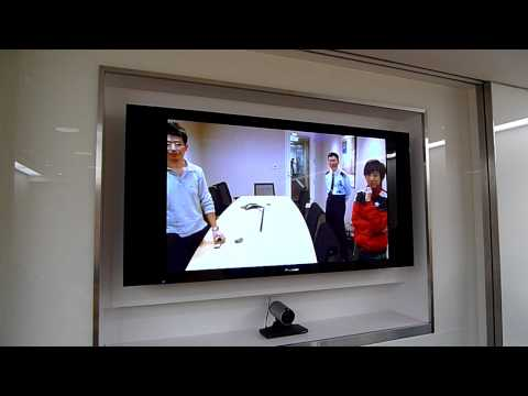 Credit Suisse video conference A/V connection test