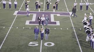 Triway Marching Band Pre-Game Show and Senior Recognition