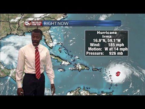 Hurricane Irma Outlook 9/5/17, Along with Tropical Storm Jose