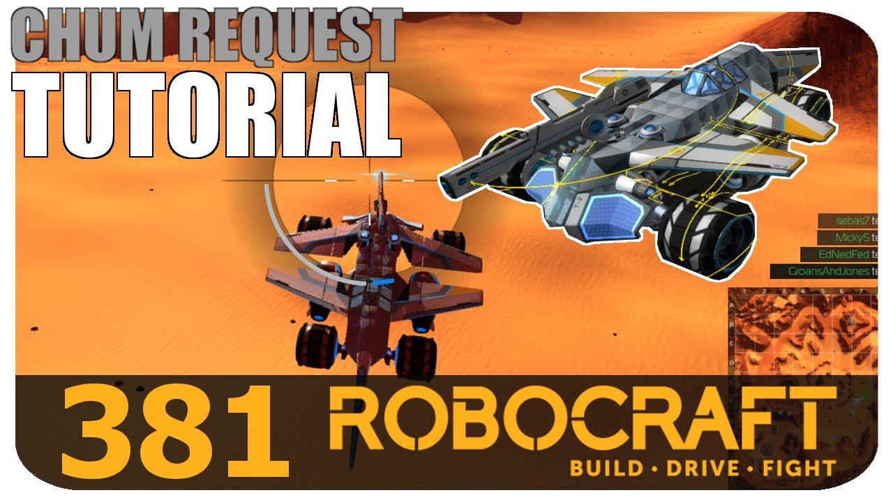 Robocraft Tutorial TX-1 Armor Rail Sniper Flying Buggy ...