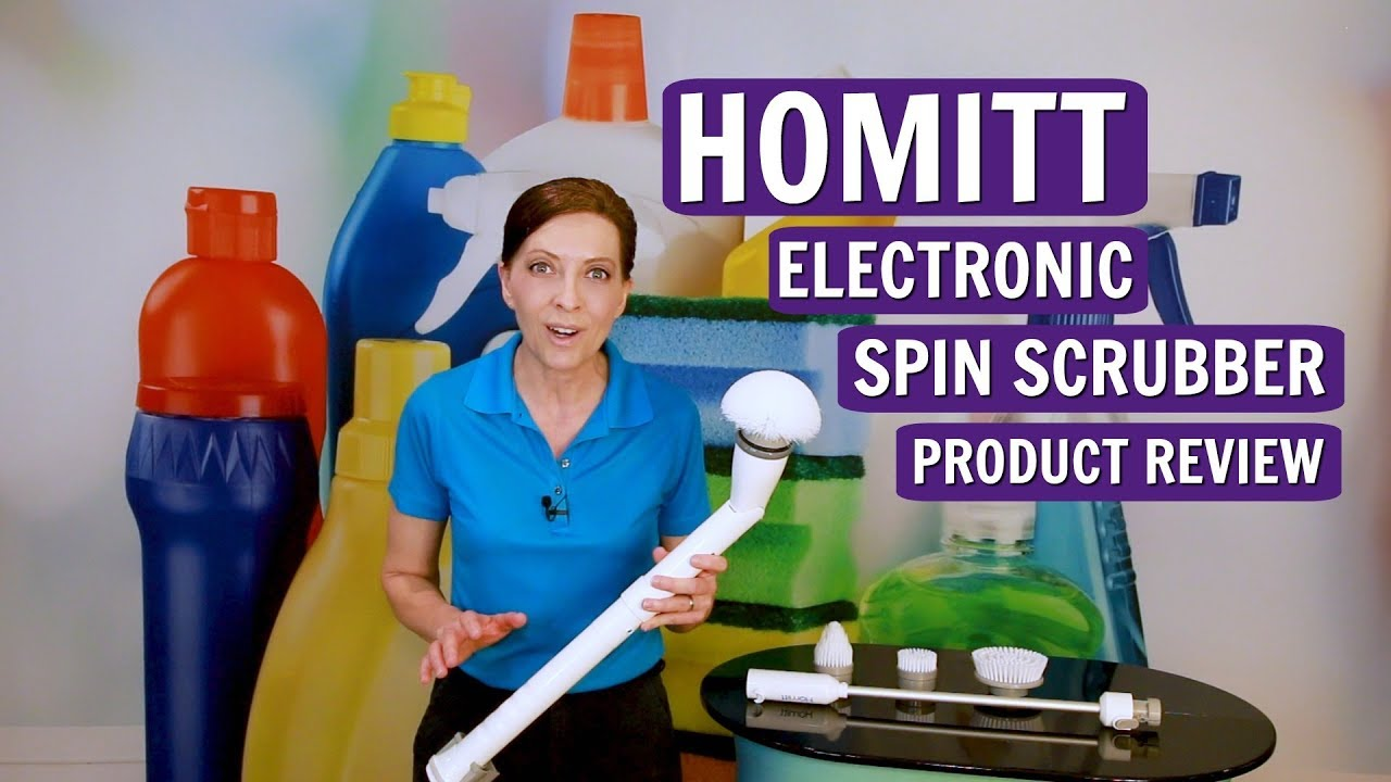 the best scrub brush for seniors homitt electric spin scrubber product review