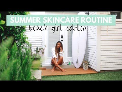 Summer Skincare Routine (beach girl edition) thumbnail