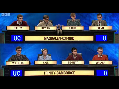 University Challenge S44E28  Magdalen College Oxford vs Trinity College Cambridge