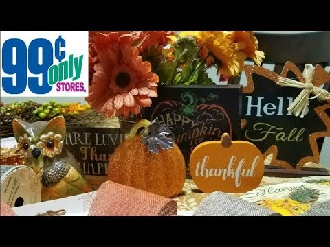 99 Cents Only | Welcome Fall🍁 Decor | Come See with Me & HUGE Haul