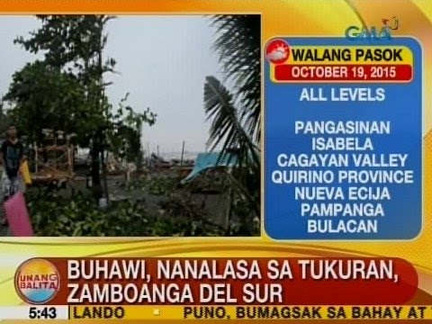 UB: Buhawi, nanalasa sa Tukuran, Zamboanga del Sur