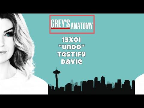 """Grey's Anatomy Soundtrack - """"Testify"""" by Davie (13x01)"""