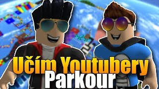 I teach YouTubers parkour in ROBLOX! | Gods