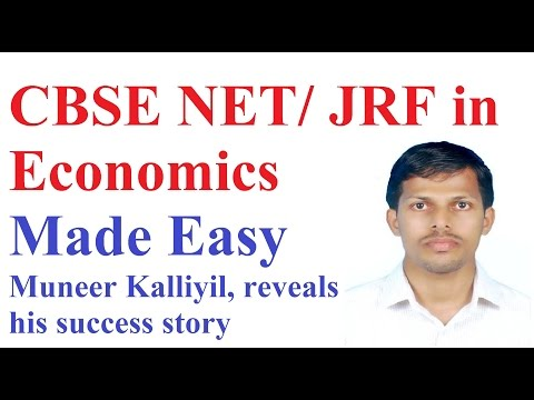 How to Prepare for CBSE NET  in Economics- Interview with Muneer  JRF Holder, IIT Bombay