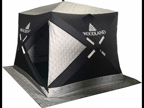Зимняя палатка куб Woodland Ultra Comfort трехслойная