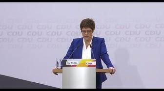 CDU-Chefin Kramp-Karrenbauer will Parteivorsitz abgeben