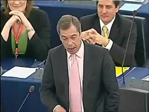 Nigel Farage touches quite a few nerves in the EU Parliament
