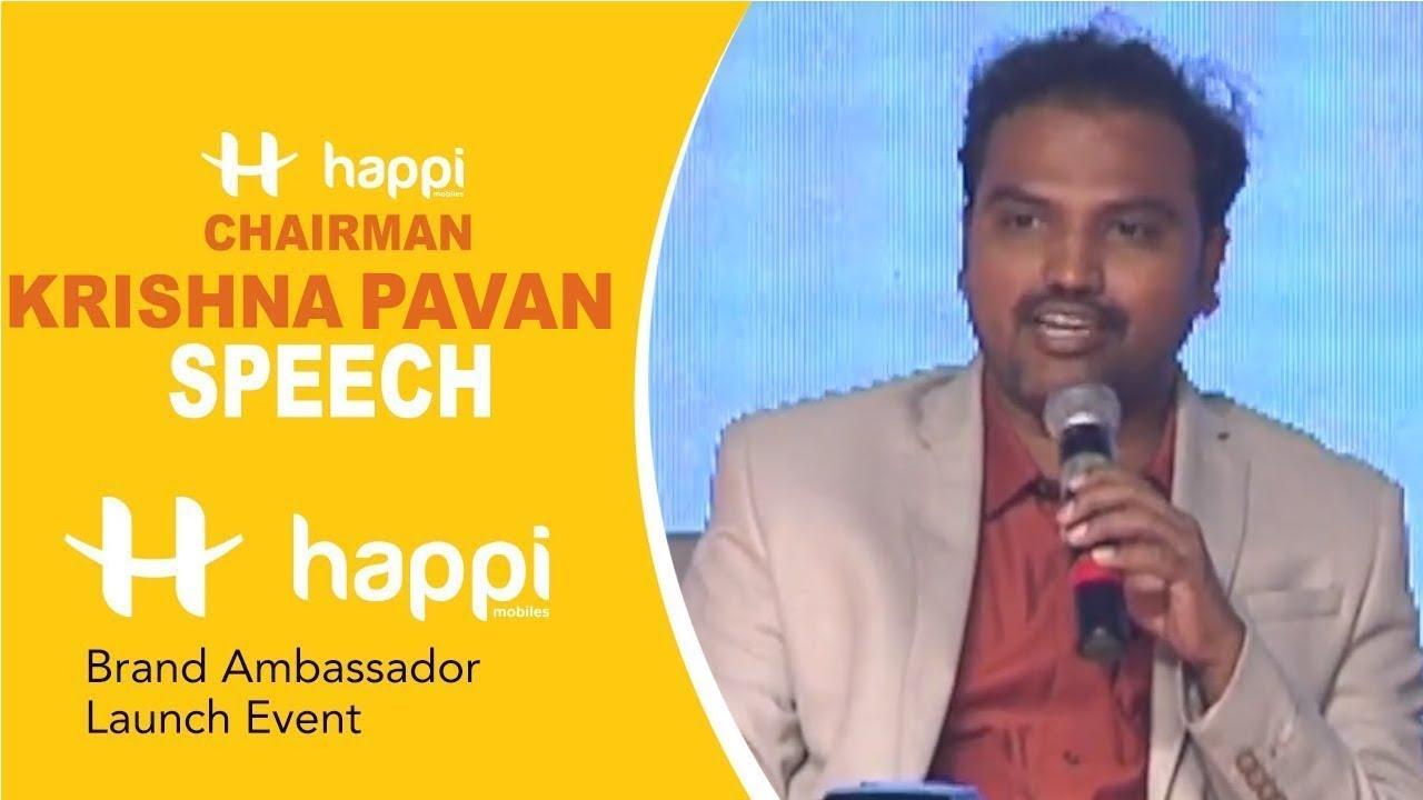 Download HAPPI Mobiles Chairman Krishna Pavan Speech @ Happi Mobiles Brand Ambassador Launch