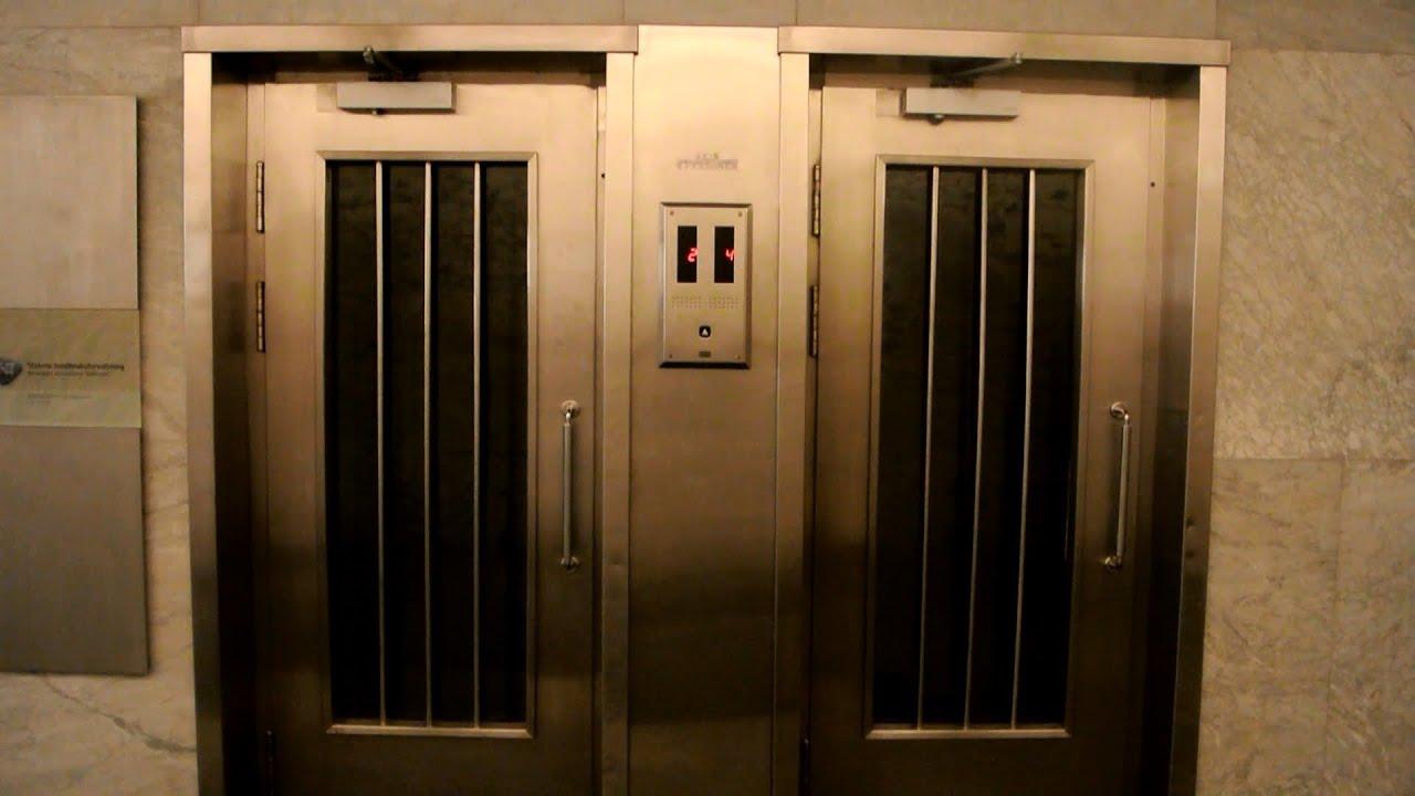 Brødr  Reber (Schindler) traction elevators (mb  KONE M-series) @  Stortingsgaten 28, Oslo, Norway