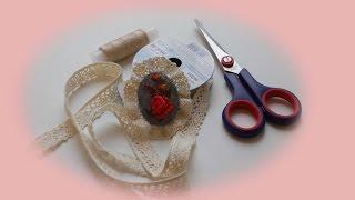 Брошь с вышивкой лентами своими руками