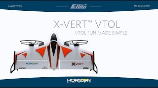 Load Video 1:  E-flite X-VERT VTOL RTF and BNF Basic