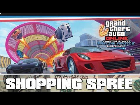GTA 5 Online Special Vehicle Circut DLC Shopping Spree GTA 5 Online Cunning Stunts Gameplay Xbox One