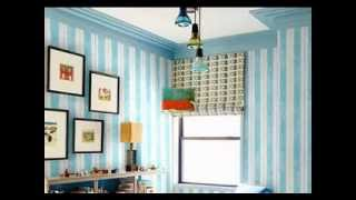 Creative wallpaper design boys room