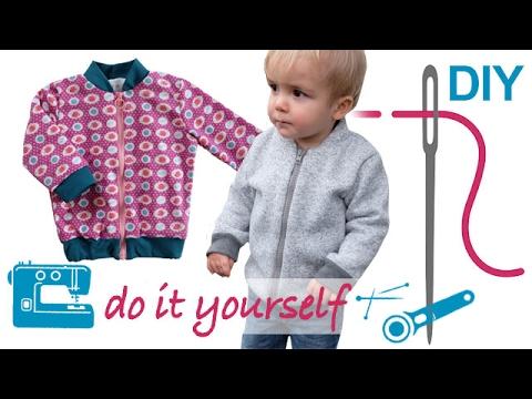 DIY Unisex Kinderblouson / Collegejacke mit und ohne Futter nähen ...