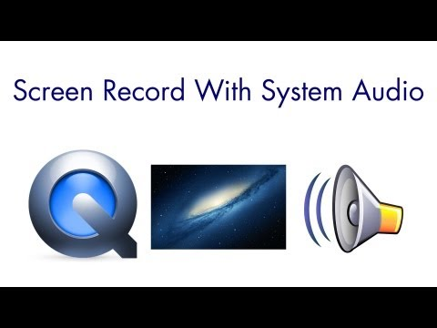 QuickTime Screen Recording With Audio