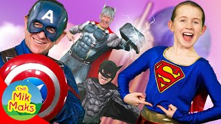 Superhero Belly Button Song | Children's Songs and Nursery Rhymes | Kids Videos for Kids