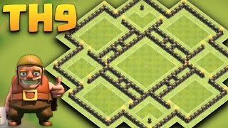 Town Hall 9 Farming Base  Anti Giant/Bararch/hogs/goho (Circle Funnel) + Replays