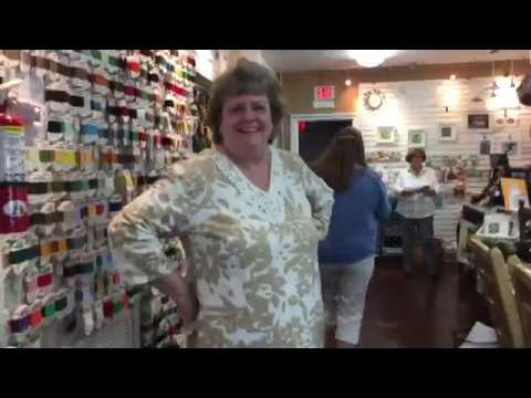 Visiting The Black Sheep needlework shop in Florida