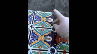 Diy Table With Mexican Tiles Over Wood Using Modified Thin Set - Full Video