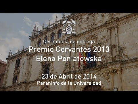 Premio Cervantes 2013 - Elena Poniatowska