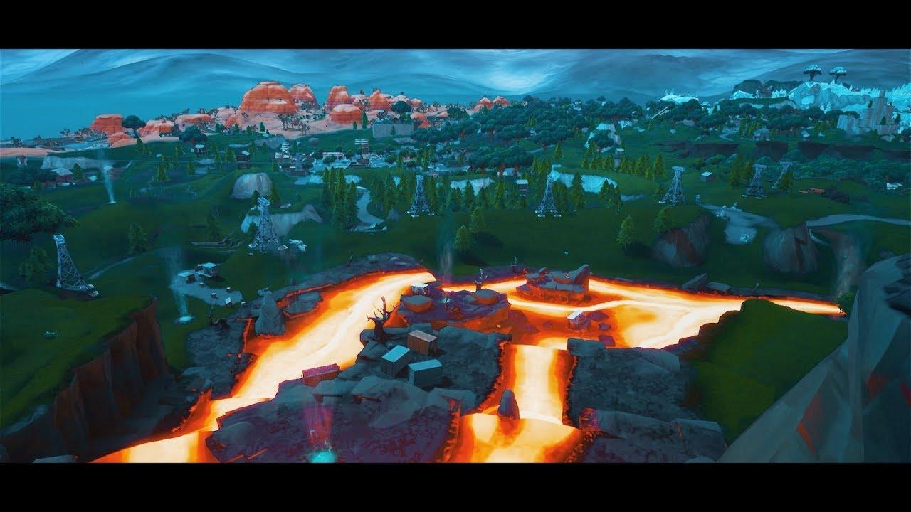 Fortnite Season  Volcano Jungle Map Free Cinematics
