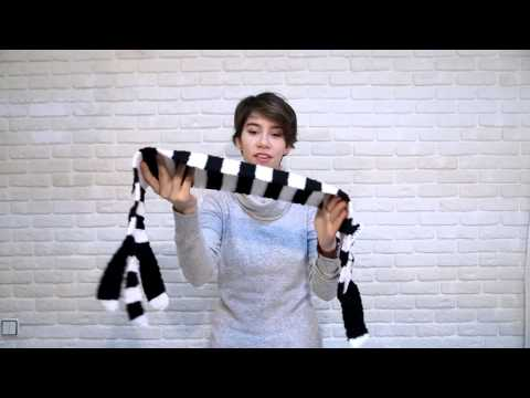 Handmade Knitted Funny Cat Scarf Crochet Winter Accessories