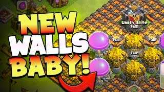 """Clash of Clans: """"BUYING NEW LVL 11 WALLS!"""" THIS IS EPIC... Farming IS BACK!"""