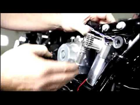 Installation of Air Ride Suspension, Tank and Remote on harley air ride seats, harley air ride system, harley air ride compressor, harley air ride suspension, harley air ride piston,