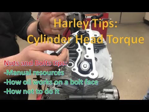 How to properly torque a Harley Davidson cylinder head. Tips for all bolts!