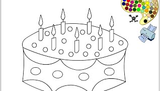 Cake Coloring Pages Kids