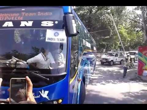 Team India Entry in Holkar stadium indore