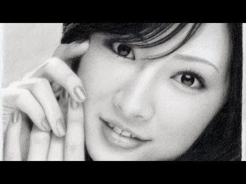 鉛筆画 北川景子 完成までの一部始終 動画 早送り / Keiko Kitagawa / Pencil drawing / How To Draw a Realistic Picture.