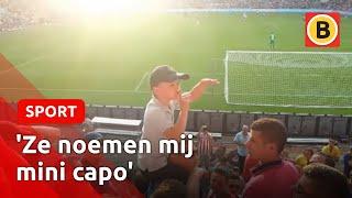 Djarno (8) in één klap beroemd na dirigeren van harde kern op Oosttribune PSV