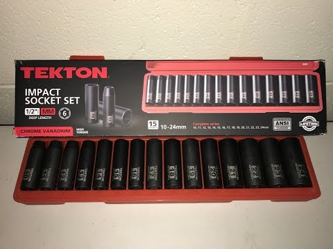 TEKTON 1/2-Inch Deep Impact Socket Set