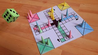 How to make a LUDO GAME at home | DIY | Board, Tokens & Dice