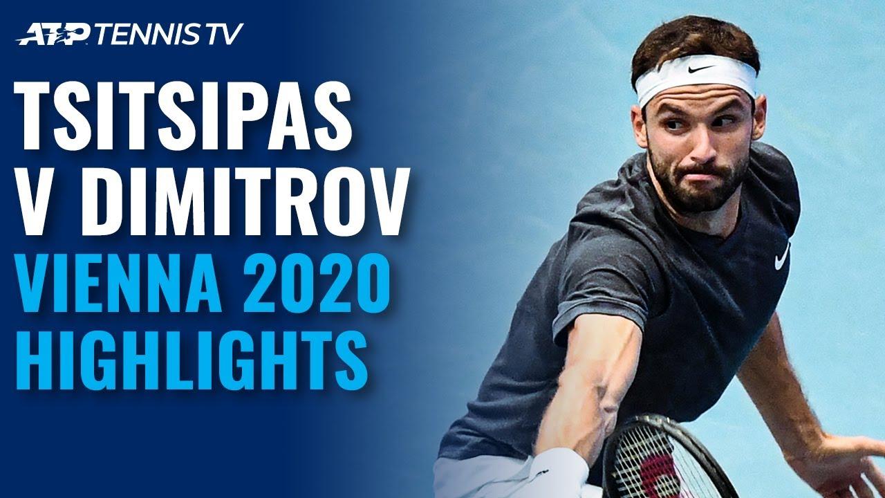Download Great Stefanos Tsitsipas vs Grigor Dimitrov Match: Vienna 2020 Extended Highlights
