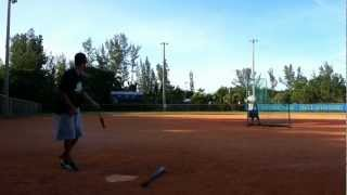 isps slow pitch softball batting practice